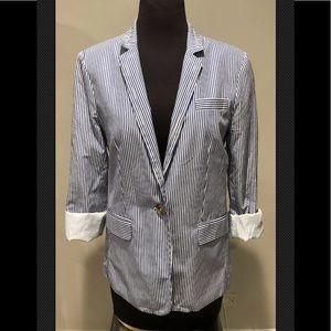 J Crew deconstructed Regent blazer striped size 8